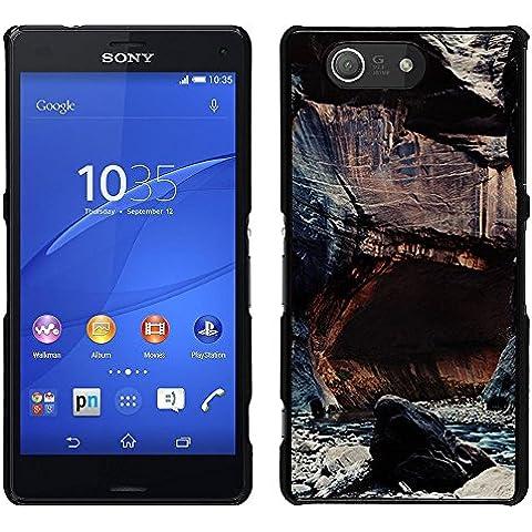 For Sony Xperia Z4v / Sony Xperia Z4 / E6508 , S-type® Cliffs River Nature Rocks Water - Art & Design plastica dura Guscio Protettivo Cassa Cover