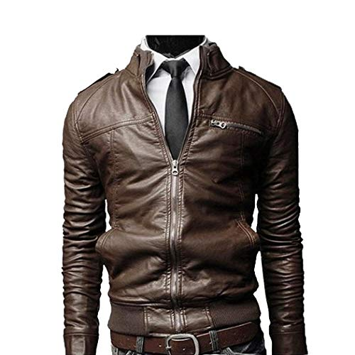 Teaio giacca da uomo giacca in pelle motociclista pu da giacca giacca mode di marca in pelle