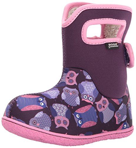 GIRLS BABY BOGS OWLS PURPLE MULTI INSULATED WASHABLE WARM WELLIES BOOTS 721661-UK 4 (EU 21)