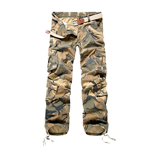 semen Herren Camouflage Hose Military Hose Cargo Hose Herren Armee Camo Vintage Regular Fit Freizeithose Pant Army Military Pants