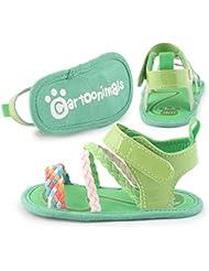 Cartoonimals Zapatos para bebé niños niñas Infantil primeros pasos Zapatillas Weaved Sandal