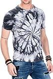 CIPO&BAXX Herren Herren T-Shirt mit Batik-Muster
