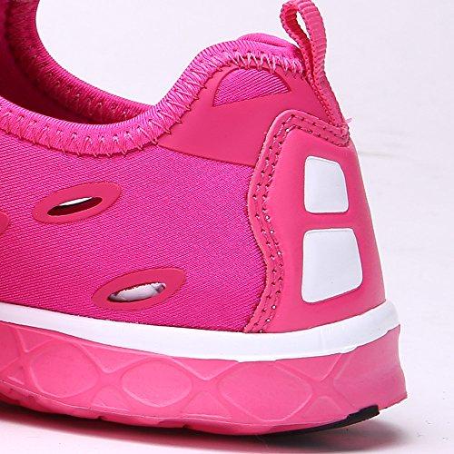 Wasser Schuhe aleader Damen Slip auf Walking Schuhe Rose