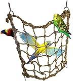 Fliyeong 1 STÜCKE Durable Papagei Hanfseil Net mit Haken Vogel Kletternetz Schaukel Leiter Hängematte Spielzeug für Kleine u0