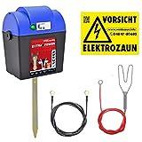 VOSS.farming Elettrificatore,Dispositivo da recinzioni per pascoli 9V apparecchio Alimentato a Batteria Extra Power 9V