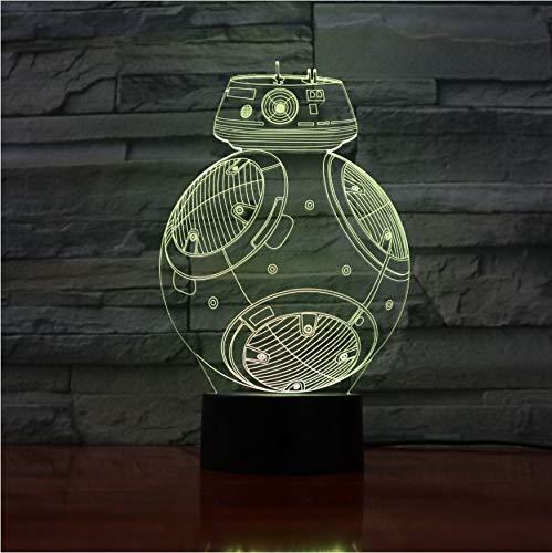 Nachtlicht Roboter 3D Led Licht Schreibtisch Tisch Halloween Dekoration Geschenk Kind Abschlussfeier Usb 7 Farben Ändern Lava Lampe
