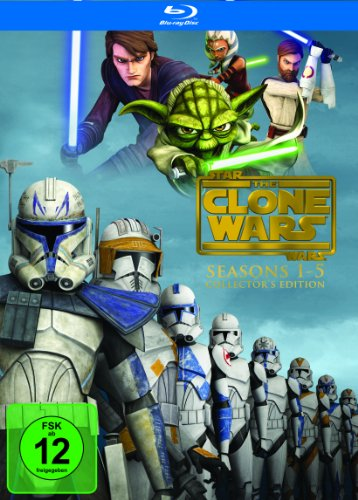 Preisvergleich Produktbild Star Wars: The Clone Wars - Komplettbox Staffel 1-5 (exklusiv bei Amazon.de) [Blu-ray]
