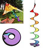 HENGSONG Wind Spinner Hanging Spinner Spiral Garden Outdoor Decor Colorful