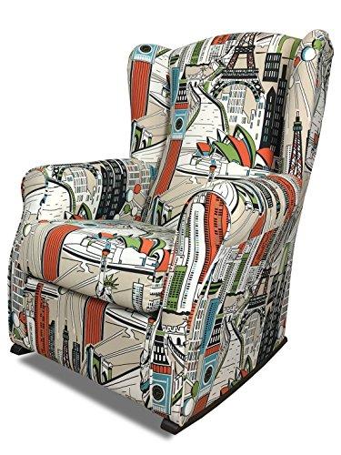 Suenoszzz-sillón poltrona paraorecchie.(ideale per allattamento, rivestimento tessuto hp undergroupd.misura: 104x 76x 74.