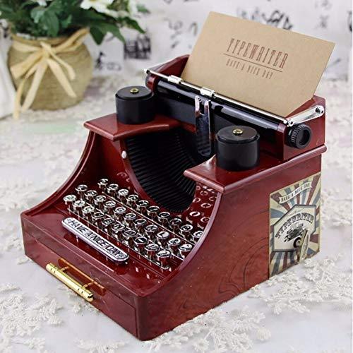 LYMDY Spieluhr Hause Retro Vintage Schreibmaschine Spieluhr Für Haus Büro Mechanische Dekoration Kinder Retro Spieluhr