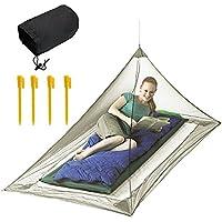 JTDEAL Mosquiteras Viaje(220 x 120 x 100cm), Mosquitera Acampada, Mosquitos Al Aire Libre, Triángulo, para Acampadas, Viajes o Aventuras En La Naturaleza para Protegerlos de Los Mosquitos - Verde
