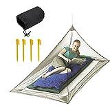 JTDEAL Camping Moskitonetz(220 x 120 x 100 cm), Mücken im Freien, Einzel- und Dreiecksbett, Zum Camping, Ausflüge Oder Abenteuer in der Natur, Um Sie vor Moskitos zu schützen - Grün