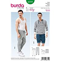 Burda Schnittmuster Hose Weiß B6719 weiß