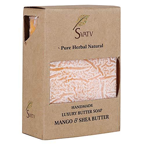 Savon de beurre de luxe fait main à la mangue et au beurre de karité SVATV pour tous les types de peau