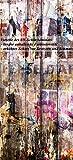 Wallario Selbstklebende Türtapete mit Schutzlaminat, Motiv: Bemalte Holzplanken mit alter Schrift - Größe: 93 x 205 cm in Premium-Qualität: Abwischbar, brillante Farben, rückstandsfrei zu entfernen