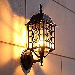 WASS6 IP65 Étanche Murale Extérieure Lumière Antique Loft Applique E27 Edison Applique Murale En Verre En Aluminium Moulé for Villa Allée Corridor Balcon Mur Extérieur Porte Coulissante Éclairage Déco