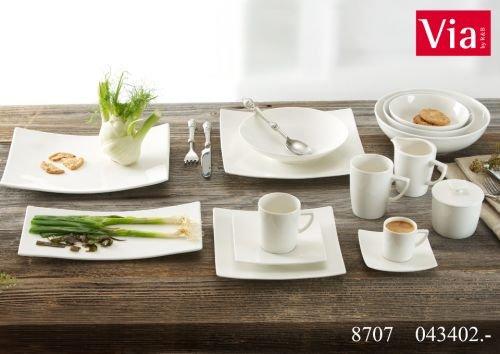 Via By R&B Geschirr-Serie Pure Material Kaffeeservice 18 tlg. Pure