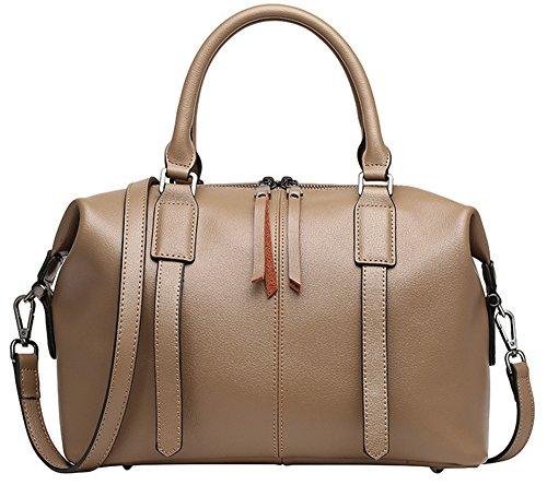 Xinmaoyuan Borse donna borsette in cuoio Cowboy pacchetto Boston spalla borsa Messenger Kaki