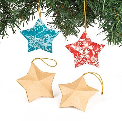 Stella Per Albero Di Natale Fai Da Te.Decorazioni Fai Da Te A Forma Di Stella Per Bambini Da Dipingere