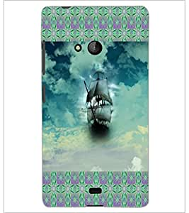 PrintDhaba Ship D-6017 Back Case Cover for MICROSOFT LUMIA 540 (Multi-Coloured)