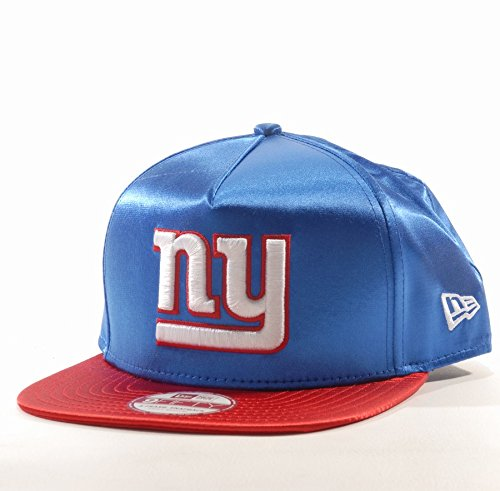 New Era - Casquette Snapback Homme New York Giants 9Fifty Satin - Blue / Red