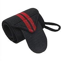 حزام معصم للياقة البدنية والصالة الرياضية لدعم اليد مع حلقات للإبهام للرجال والنساء - مناسب لرفع الاثقال ورفع والاوزان وتدريب القوة