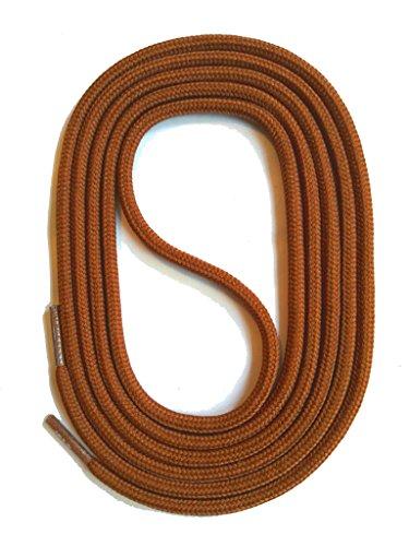 SNORS Schnürsenkel BRAUN RUND 3mm, 75cm reißfest, Made in Germany Rundsenkel aus Polyester für Sportschuhe Sneaker Turnschuhe Laufschuhe und Business-Anzug-schuhe