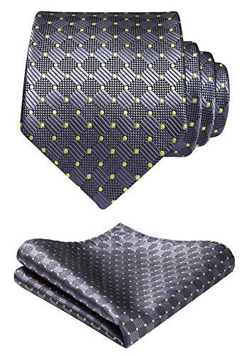 Hisdern uomini e dot cravatta a righe fazzoletto una festa di ballo party wedding cravatta & fazzoletto set