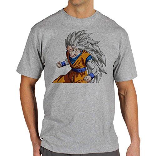 Dragon-Ball-Gogu-Super-Saiyan-God-5-LVL-Ready-Dragon-Ball-Super-Layer-0.jpg Herren T-Shirt Grau