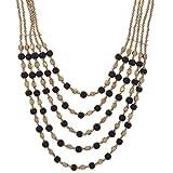 DECRON JEWELS Fashion 2015 Black Alloy Necklace for Women