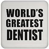 Designsify World 's Greatest Zahnarzt–Untersetzer, Untersetzer, Beste Geschenk für Geburtstag, Hochzeit, Jahrestag, Neues Jahr, Valentinstag, Ostern, Muttertag/Vatertag