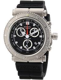 Formex 4 Speed DS2000 - Reloj cronógrafo de caballero de cuarzo con correa de silicona negra (cronómetro)