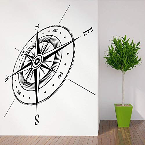 Fandhyy Compass North South East West Points Vinyl Wall Art Sticker Decal Kids Room Wall Stickers Compass Wall Stickers