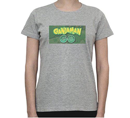 Ganjaman Go - Funny Weed, Pokemon Women's T-Shirt Gris