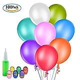 100 Luftballons MOOKLIN Dekoration Luftballons Bunte Ballons Runde Luftballons für Hochzeit Geburtstagsfeier Weihnachtsdekoration