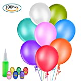 100pcs MOOKLIN Globos de Fiesta de Colores Diversos con bomba globos...