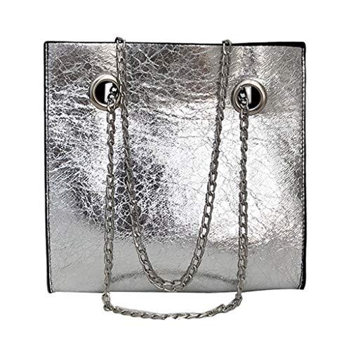 LILIHOT Damen Schultertasche Leder Handtasche klein Damenhandtasche Metallgriff Henkeltasche Abendhandtasche Damen Quaste Weibliche Tasche Paket Kette Umhängetasche Mini-Tasche Handtasche (Chanel Handtasche)