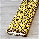 Jersey Yoga Affen gelb * Kinderstoff * Trikot * Meterware * 0,5m