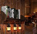 Wandlichten Wandrahmen Holz Dekorative Regal Wandleuchten Wohnzimmer Wand Lampen Innen Wandlampen Kaffee Bar Im Amerikanischen Stil Industrie Persönlichkeit Schlafzimme Nicht Enthalten Buch