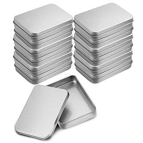 12-teiliges Metalldose - Kleine Blechdose (9 x 6 x 2cm) mit abnehmbaren Deckeln für Süßigkeiten, Gewürzen, Kräutern, Kosmetik, Erste Hilfe und vielen Anderen kleinen Gegenständen