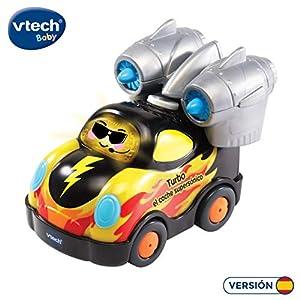 VTech - Turbo el Coche supersónico, Tut Tut Bólidos, Furgoneta interactiva Compatible con el Resto de la colección, incorpora música, Canciones y Frases Que fomentan el Aprendizaje (3480-143867)