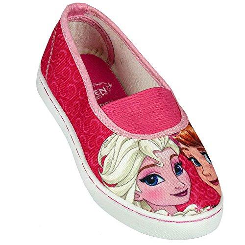 Frozen Disney - Ballerine Scarpe in Tela Con Elastico - Bambina - Prodotto Originale - Collezione 2016 - 2300000619 [Elsa e Anna - 30]