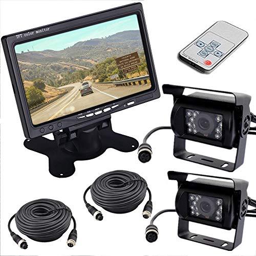 Digitales Drahtloses Rückfahrkamera System YUNRUX Funk Monitor Rückfahrkamera-Set 7
