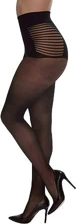 CALZITALY Calze Taglie Forti Con Bikini A Righe | Collant Velatcalze Taglie Forti Con Bikini A Righe | Collant Velato | Curvy By 2o | Curvy By 20 Den | L, Xl, Xxl | Calzeteria Italiana |