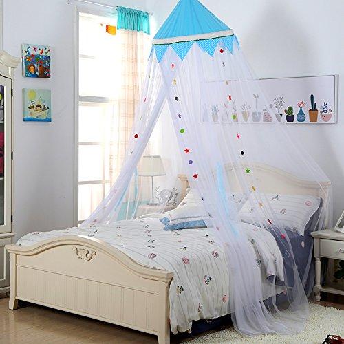 Bunte Kinder Zimmer Decke Typ Prinzessin Moskitonetz, Kuppel Boden Baby Bett  Baldachin Moskito Vorhang  B Queen1