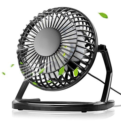 Mini ventilatore usb, mture portatile ventilatore da tavolo potente e silenzioso, basso consumo plastica desktop fan compatibile con pc, notebook, computer (nero)