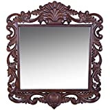 The Décor Shop Wooden Carved Mirror Frame (91 Cm X 3.75 Cm X 106 Cm, Brown)