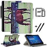 Tablet 10.1 Zoll Hülle für NINETEC Ultratab 10 Pro Schutzhülle Etui Case mit Touch Pen und Standfunktion - Pferd 3 360