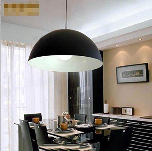 San Tai@Lampada lampadario a sospensione design retrò,Nero,ferro,40cm