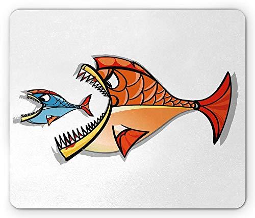 Inspirational Mausunterlage, große Fische, die wenig Unterwasserschwimmen-Fisch-Tierkreis-Grafik Essen